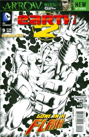 Earth 2 #9 Incentive Nicola Scott Sketch Cover