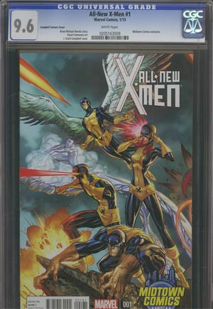 All-New X-Men #1 Midtown Exclusive J Scott Campbell Connecting Variant Cover (Part 2 of 3) CGC 9.6