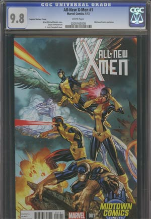 All-New X-Men #1 Midtown Exclusive J Scott Campbell Connecting Variant Cover (Part 2 of 3) CGC 9.8