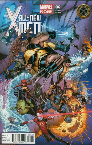 All-New X-Men #7 Variant Nick Bradshaw X-Men 50th Anniversary Variant Cover