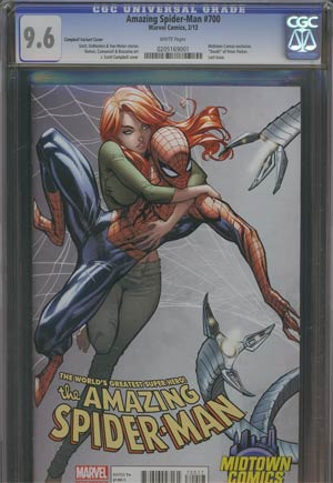 Amazing Spider-Man Vol 2 #700 Midtown Exclusive J Scott Campbell Connecting Variant Cover (Part 1 of 2) CGC 9.6