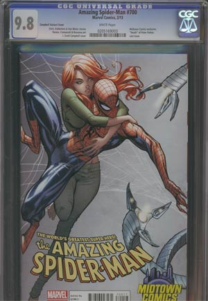 Amazing Spider-Man Vol 2 #700 Midtown Exclusive J Scott Campbell Connecting Variant Cover (Part 1 of 2) CGC 9.8