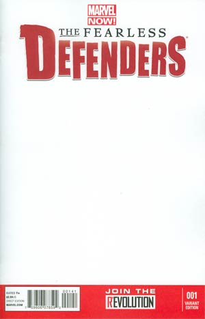 Fearless Defenders #1 Variant Blank Cover
