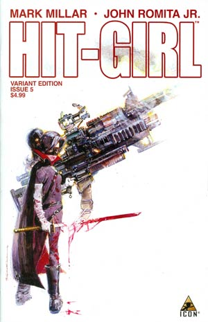 Hit-Girl #5 Incentive Bill Sienkiewicz Variant Cover