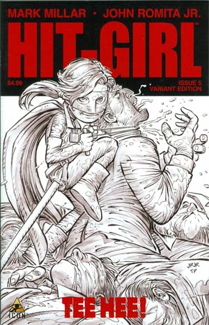 Hit-Girl #5 Incentive John Romita Jr Sketch Cover