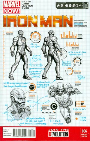 Iron Man Vol 5 #6 Incentive Steve McNiven Design Variant Cover