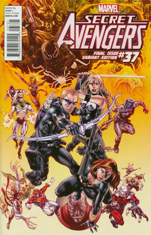 Secret Avengers #37 Variant Mike Perkins Final Issue Cover