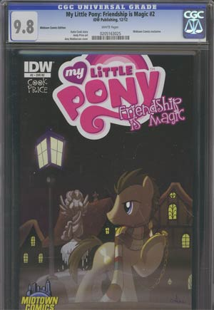 My Little Pony Friendship Is Magic #2 Midtown Exclusive Amy Mebberson Time Turner Variant Cover CGC 9.8