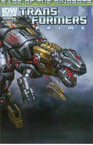 Transformers Prime Rage Of The Dinobots #3 Incentive Animated Series Character Variant Cover