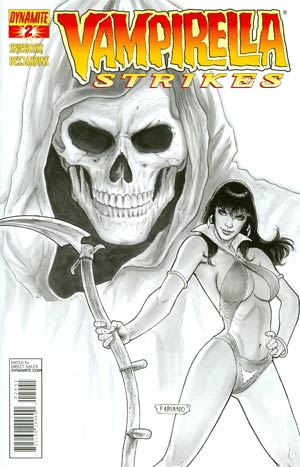Vampirella Strikes Vol 2 #2 Incentive Fabiano Neves Black & White Cover