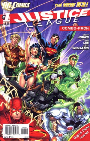 Justice League Vol 2 #1 Combo Pack Without Polybag 1st Ptg