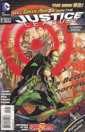 Justice League Vol 2 #8 Combo Pack Without Polybag