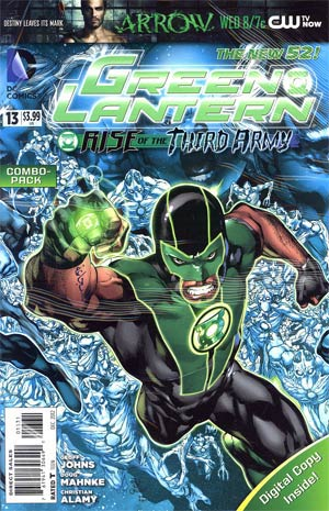 Green Lantern Vol 5 #13 Combo Pack Without Polybag (Rise Of The Third Army Tie-In)