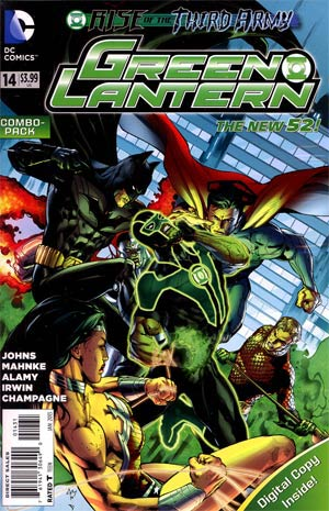 Green Lantern Vol 5 #14 Combo Pack Without Polybag (Rise Of The Third Army Tie-In)