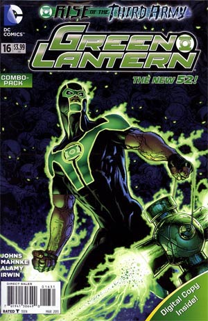 Green Lantern Vol 5 #16 Combo Pack Without Polybag (Rise Of The Third Army Tie-In)