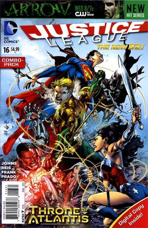 Justice League Vol 2 #16 Combo Pack Without Polybag (Throne Of Atlantis Part 3)