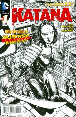 Katana #1 Incentive David Finch Sketch Cover