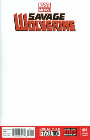Savage Wolverine #1 Variant Blank Cover