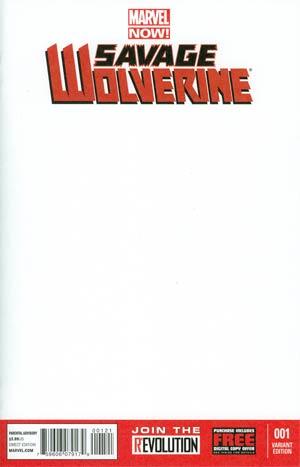 Savage Wolverine #1 Variant Blank Cover