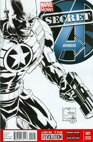 Secret Avengers Vol 2 #1 Incentive Joe Quesada Sketch Cover
