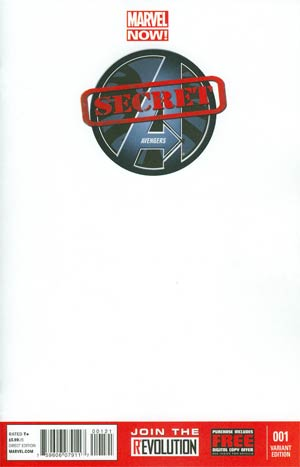 Secret Avengers Vol 2 #1 Variant Blank Cover