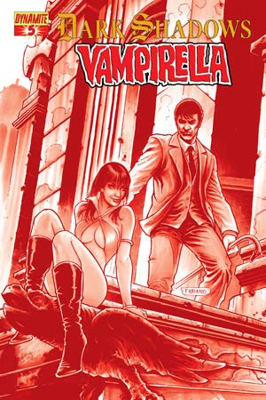 Dark Shadows Vampirella #5 High-End Fabiano Neves Blood Red Ultra-Limited Variant Cover (Only 25 In Existence)