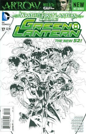 Green Lantern Vol 5 #17 Incentive Doug Mahnke Sketch Cover (Wrath Of The First Lantern Tie-In)