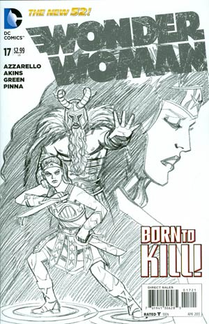 Wonder Woman Vol 4 #17 Incentive Cliff Chiang Sketch Cover