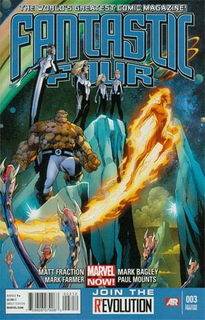 Fantastic Four Vol 4 #3 2nd Ptg Mark Bagley Variant Cover