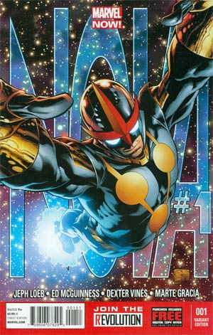 Nova Vol 5 #1 Incentive Joe Quesada Variant Cover