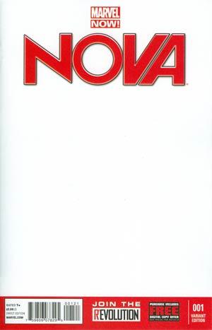 Nova Vol 5 #1 Variant Blank Cover
