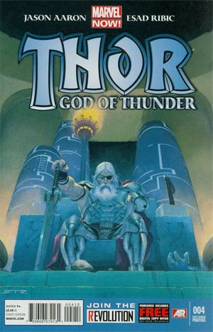 Thor God Of Thunder #4 2nd Ptg Esad Ribic Variant Cover