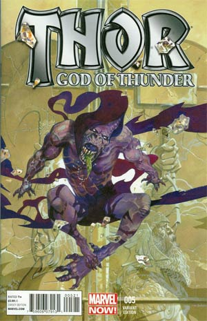 Thor God Of Thunder #5 Incentive RM Guera Variant Cover