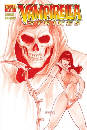 Vampirella Strikes Vol 2 #2 High-End Fabiano Neves Blood Red Ultra-Limited Cover (only 100 copies in existence!)