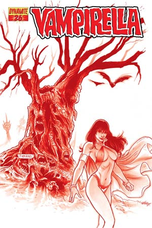 Vampirella Vol 4 #26 High-End Fabiano Neves Blood Red Ultra-Limited Cover (only 25 copies in existence)