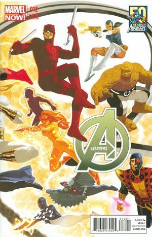 Avengers Vol 5 #12 Variant Avengers 50th Anniversary Cover