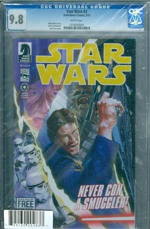 Star Wars (Dark Horse) Vol 2 #3 Cover D DF CGC 9.8