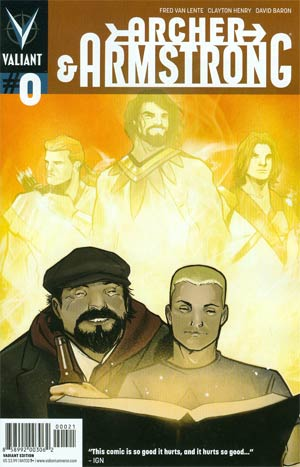 Archer & Armstrong Vol 2 #0 Variant Lee Garbett Pullbox Cover