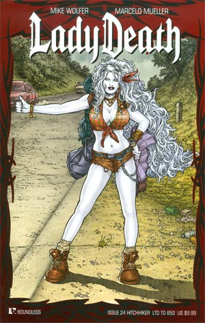 Lady Death Vol 3 #24 Hitchhiker Cover
