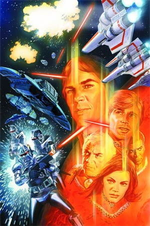 Battlestar Galactica Vol 5 #1 Cover E DF Exclusive Alex Ross Virgin Cover