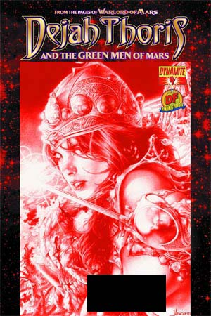 Dejah Thoris And The Green Men Of Mars #4 DF Exclusive Jay Anacleto Martian Red Risque Cover