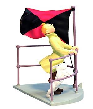 Tintin Tintin On The Aurora Box Scene Statue