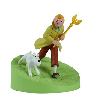 Tintin Tintin With The Sceptre Box Scene Statue