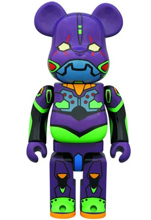 Evangelion 2.0 EVA-01 Nightcolor Version 400 Percent Bearbrick