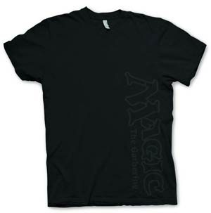 Magic The Gathering Vertical Logo Black T-Shirt Large