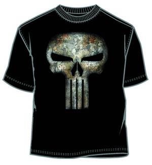 Punisher No Sweat Black T-Shirt Large