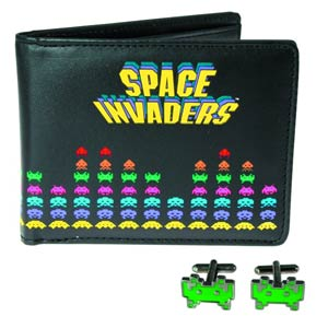 Space Invaders Wallet & Cufflinks Set