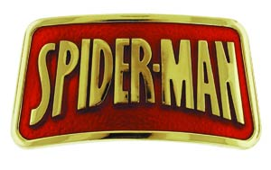 Marvel Comics Belt Buckle - Spider-Man Gold Logo