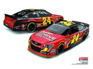 NASCAR 1/24 Scale Die-Cast - Jeff Gordons AARP Chevrolet SS