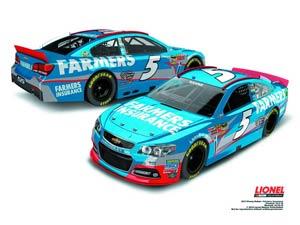 NASCAR 1/24 Scale Die-Cast - Kasey Kahnes Farmers Insurance Chevrolet SS
